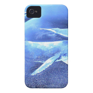 Whale Pod Blue Ocean Case-Mate iPhone 4 Cases