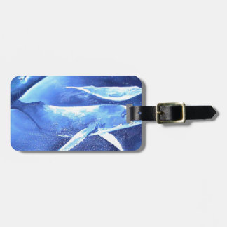 Whale Pod Blue Ocean Luggage Tag