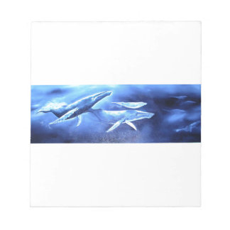 Whale Pod Blue Ocean Notepad
