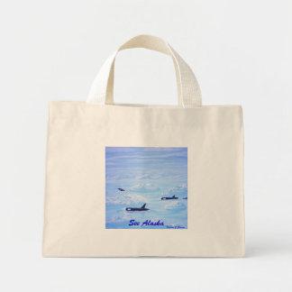 Whale Pod in Ice Floe Mini Tote Bag