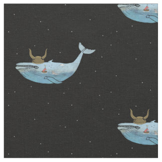 Whale Print Fabric