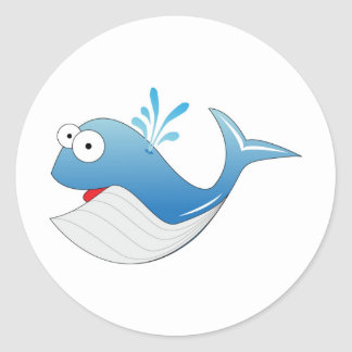Whale products classic round sticker