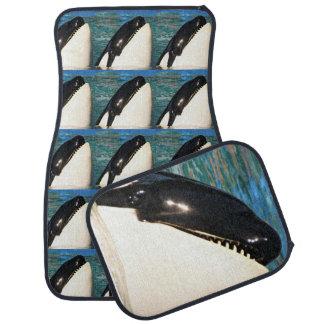 Whale Saying Hello Car Mat