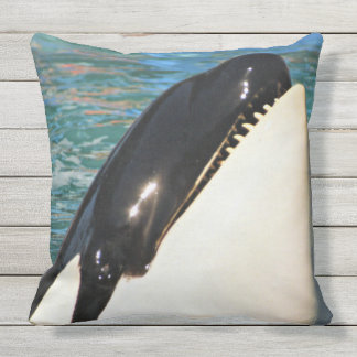 Whale Saying Hello Throw Pillow