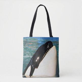 Whale saying Hello Tote Bag