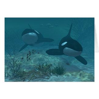 Whale Scene Card