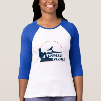 Whale Scout Women's Baseball Tee