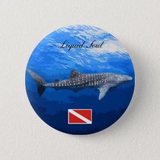 Whale Shark Boton 2 Inch Round Button