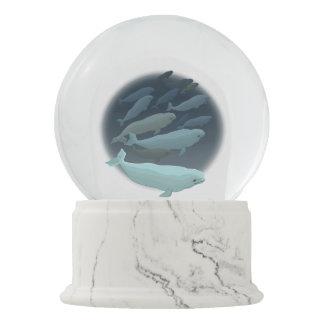 Whale Snow Globe Custom Beluga Whale Snow Globe