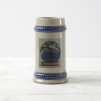 Whale snow globe mug
