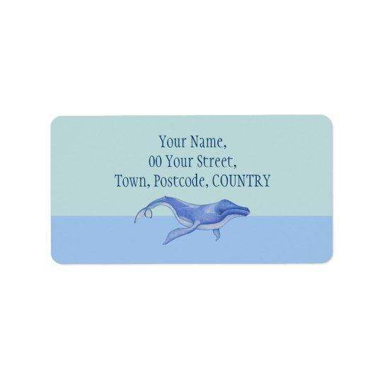 Whale solo Address Label