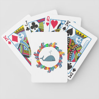 Whale Stars Bicycle Playing Cards