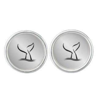 Whale Tail Cufflinks