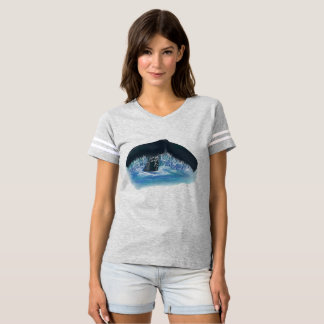 Whale Tail Women's Football Tee