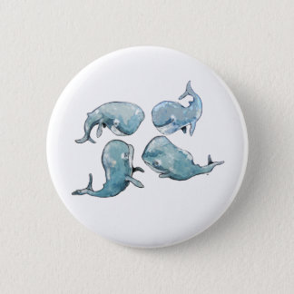 Whale Talk 2 Inch Round Button