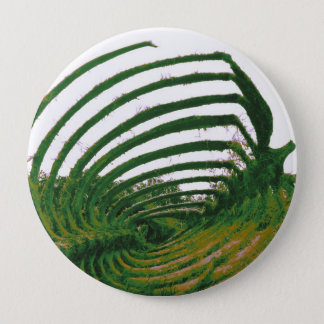 Whale Tattoo green 4 Inch Round Button