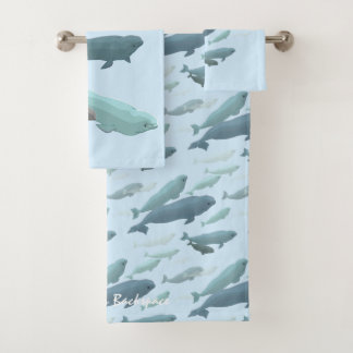 Whale Towel Sets Personalized Beluga Whale Towels