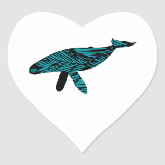 Whale Watch Heart Sticker