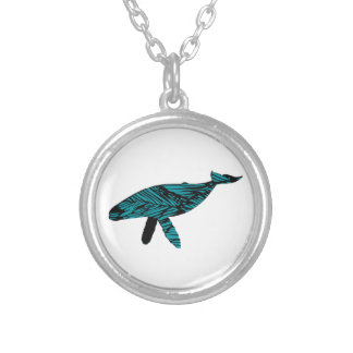 Whale Watch Silver Plated Necklace