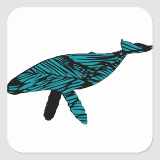 Whale Watch Square Sticker
