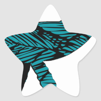 Whale Watch Star Sticker