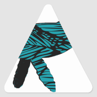 Whale Watch Triangle Sticker