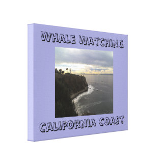 Whale watching California Coast Wrapped Canvas