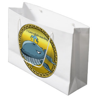 whale watching for giant floating blue whales large gift bag