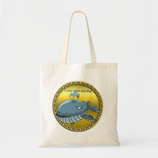 whale watching for giant floating blue whales tote bag