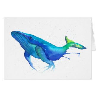 Whale Watercolour Card