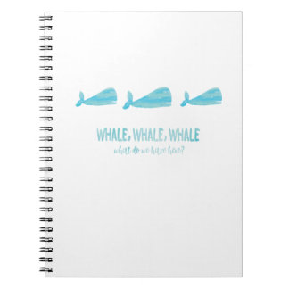 Whale, whale, whale - Notebook (White)