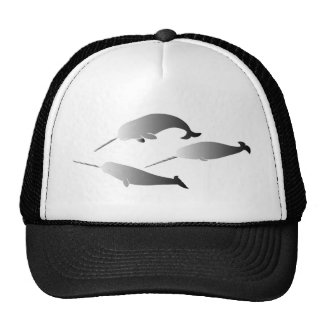 whale whales narwal narwhale unicorn scuba diving trucker hat