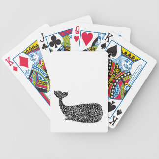 Whale with giraffe print bicycle playing cards