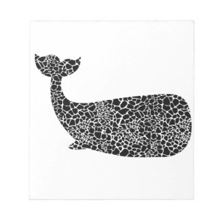 Whale with giraffe print notepad