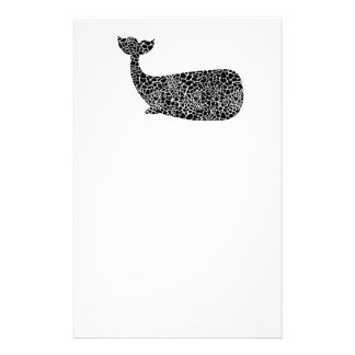 Whale with giraffe print stationery