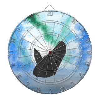 Whale With Northern Lights Dartboard