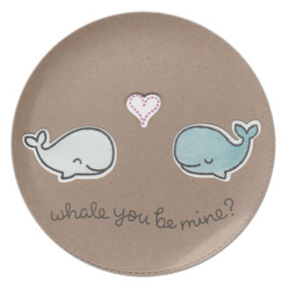 Whale You Be Mine Dinner Plate