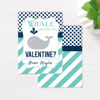 Whale You Be My Valentine Business Card
