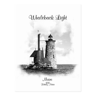 Whaleback Light - Maine Postcard
