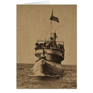 Whaleback Passenger Steamer Christopher Columbus Greeting Card