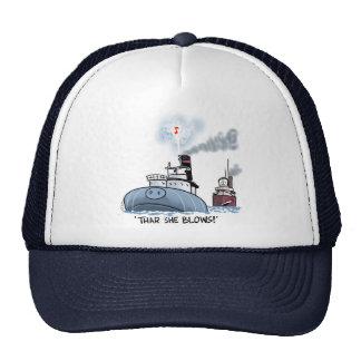 "Whaleback ""thar she blows"" trucker hat"