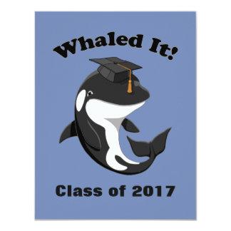 Whaled It Class of 2017 Cute Orca Killer Whale Card