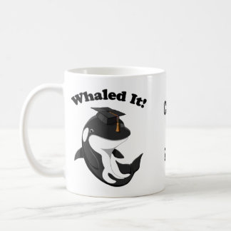 Whaled It Class of 2017 Cute Orca Killer Whale Coffee Mug