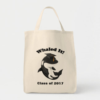 Whaled It Class of 2017 Cute Orca Killer Whale Tote Bag