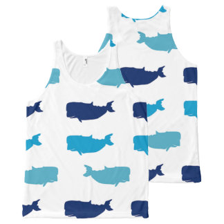 Whales All-Over-Print Tank Top