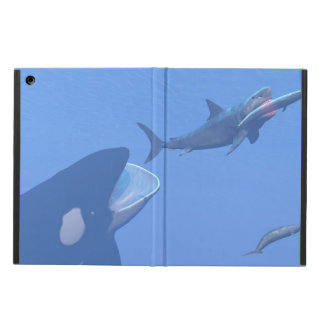 Whales and megalodon underwater - 3D render Case For iPad Air