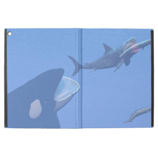 "Whales and megalodon underwater - 3D render iPad Pro 12.9"" Case"