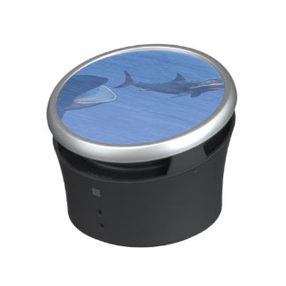 Whales and megalodon underwater - 3D render Speaker