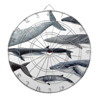 Whales and right whales dartboard