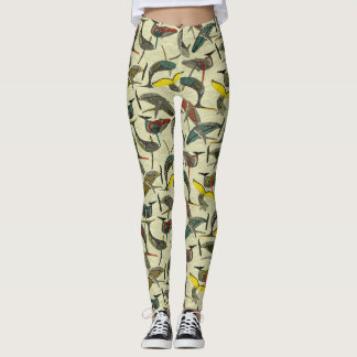 whales and waves bold leggings